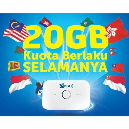 Huawei Mifi XL Go Izi 20GB E5573 with Free XL Pass Lite 1 Tahun - White