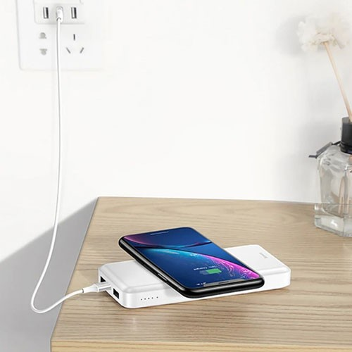 Baseus 2-in-1 Multi Wireless Charger & Power Bank 10.000 mAh PPALL-M36 - White