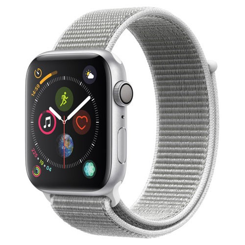Apple Watch Series 4 GPS Only 44mm Silver Aluminium Case With  Seashel Sport Loop - MU6C2ID/A