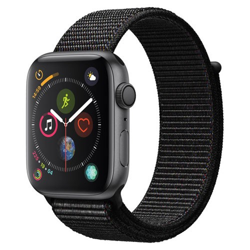 Apple Watch Series 4 GPS Only 44mm Space Grey Aluminium Case With Black Sport Loop - MU6E2ID/A