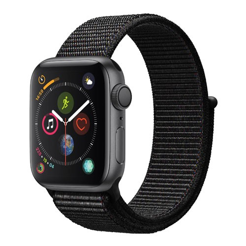 Apple Watch Series 4 GPS Only 40mm Space Grey Aluminium Case With Black Sport Loop - MU672ID/A