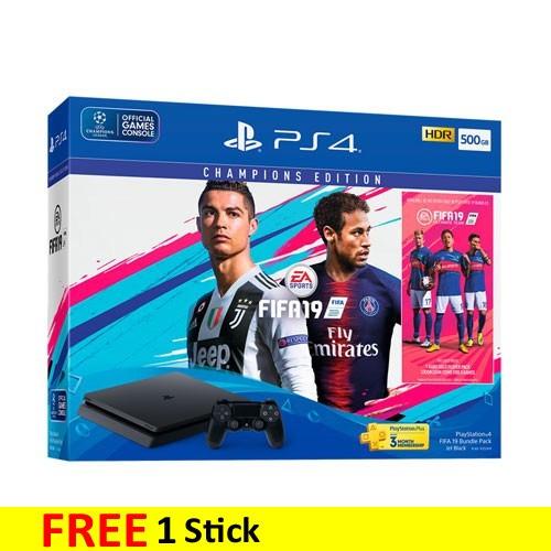SONY Playstation 4 Slim 500GB FIFA 19 Bundle - Jet Black