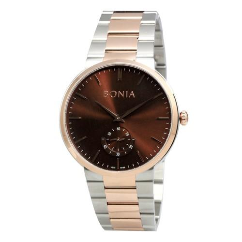 Bonia - B10188-1642 - Jam Tangan Pria - Silver Rosegold