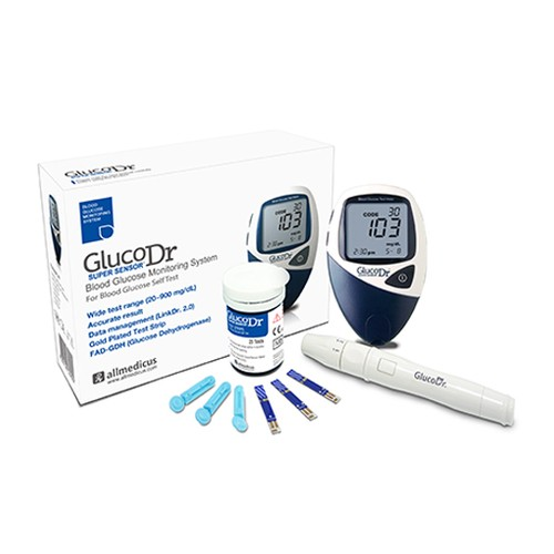 Glucodr Blood Glucose Monitor - AGM 2200 w Strip 25 T