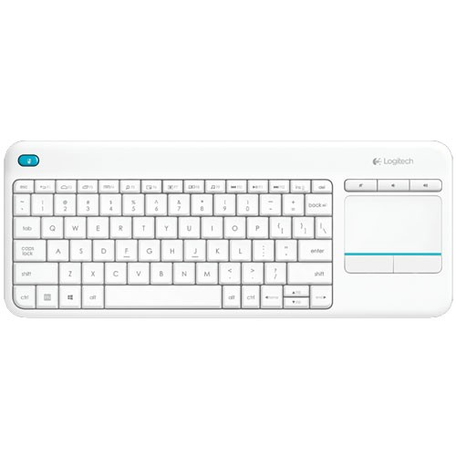 Logitech Plus Wireless Touch Keyboard K400 - White