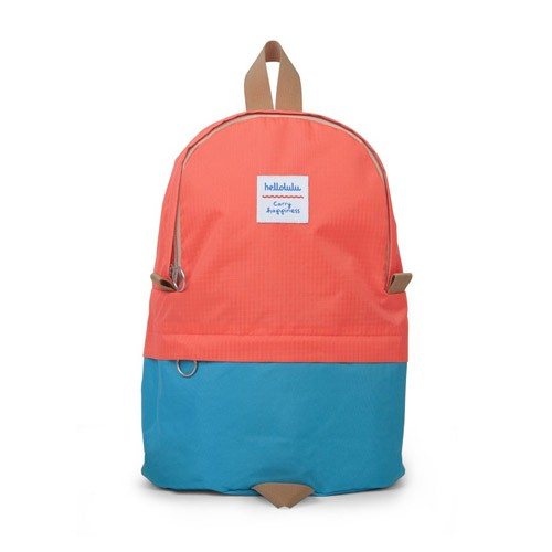 Hellolulu Pili All-Day Backpack Neon Orange/Light Blue
