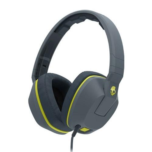 Skullcandy Over-Ear Headphone Crusher Mic1 S6SCGY-134 - Gray Hot Lime