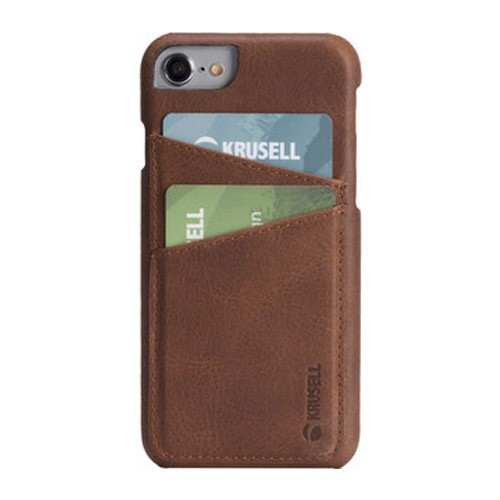 Krusell Card Cover for iPhone 6/6s/7/8 Sunne 2 - Brown