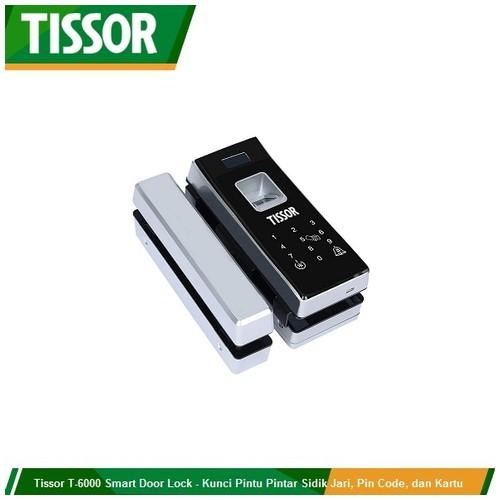 Tissor T-6000 Smart Door Lock - Kunci Pintar Fingerprint, Pin Code, dan Kartu Akses