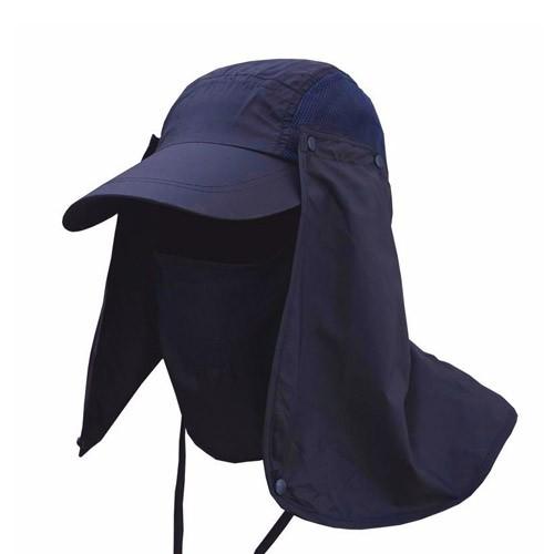 Topi Anti UV Matahari - MH011 - Navy Blue