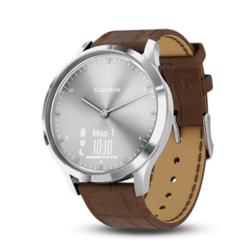 Garmin Vivomove HR Premium - Silver/Brown