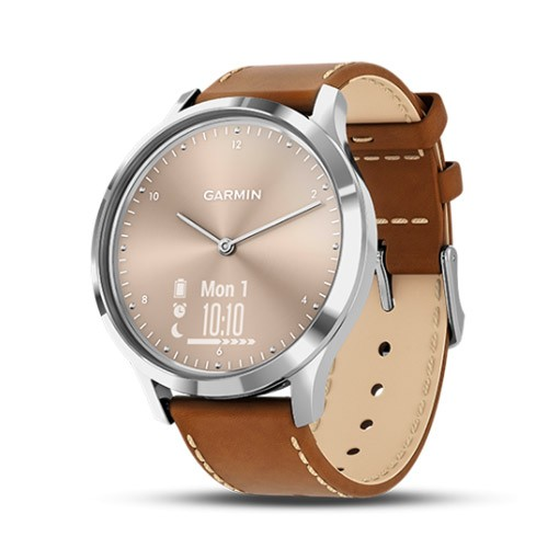 Garmin Vivomove HR Premium - Silver/Tan