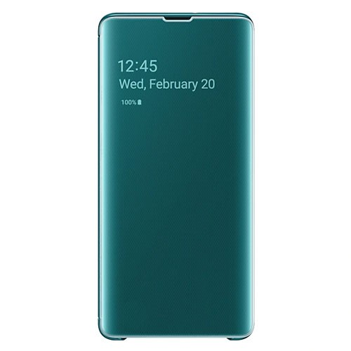 Samsung Clear View Cover Case for Galaxy S10+ Green