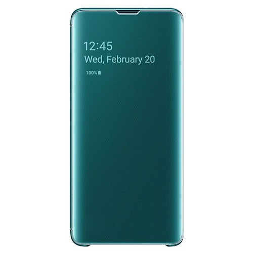 Samsung Clear View Cover Case for Galaxy S10 - Green