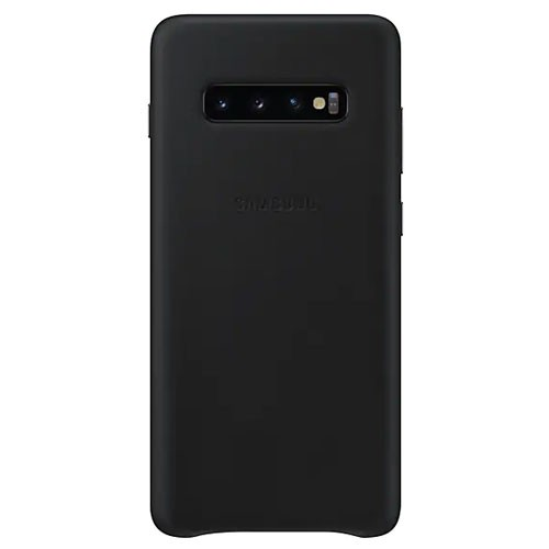 Samsung Leather Cover Case for Galaxy S10+ Black