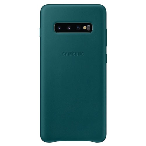 Samsung Leather Cover Case for Galaxy S10+ Green