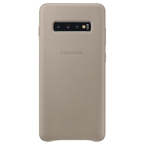 Samsung Leather Cover Case for Galaxy S10+ Gray