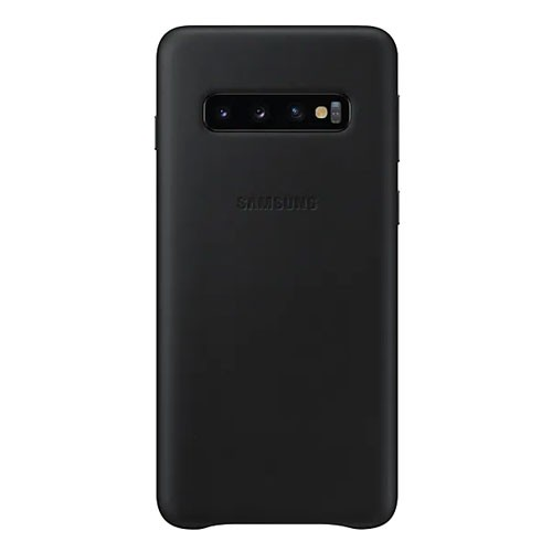Samsung Leather Cover Case for Galaxy S10 - Black