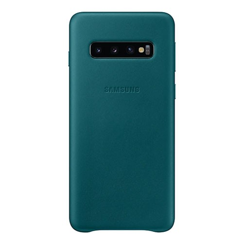 Samsung Leather Cover Case for Galaxy S10 - Green