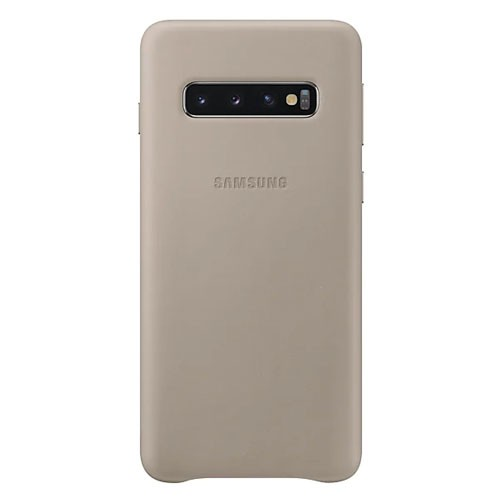 Samsung Leather Cover Case for Galaxy S10 - Gray