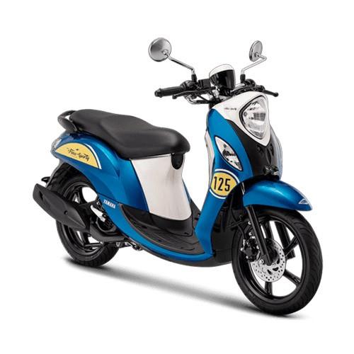 Yamaha Sepeda Motor New Fino Sporty 125cc Blue Core - Classic Blue (Bekasi & Depok)