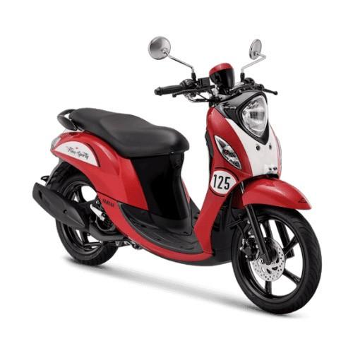 Yamaha Sepeda Motor New Fino Sporty 125cc Blue Core - Vintage Red (Bekasi & Depok)