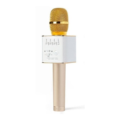 Microphone Wireless Bluetooth Karaoke Speaker Q9 - Gold