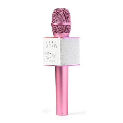 Microphone Wireless Bluetooth Karaoke Speaker Q9 - Pink