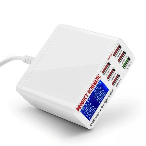 Rockware Fast Charger Station QC 3.0 - 6 Port 40W 8A - WLX-896