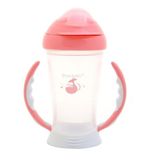 US Baby Spout Training Cup 245ml - Pink