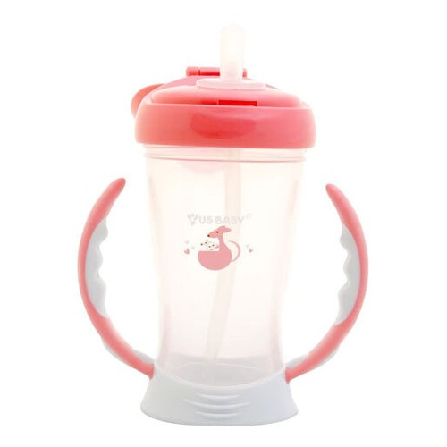 US Baby Straw Training Cup 245ml - Pink