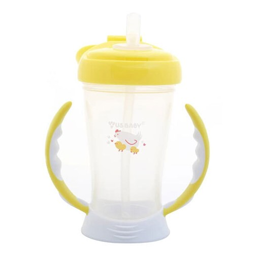 US Baby Straw Training Cup 245ml - Yellow