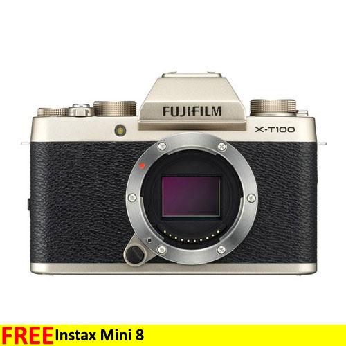 Fujifilm Mirrorless Digital Camera X-T100 Body Only - Champagne Gold