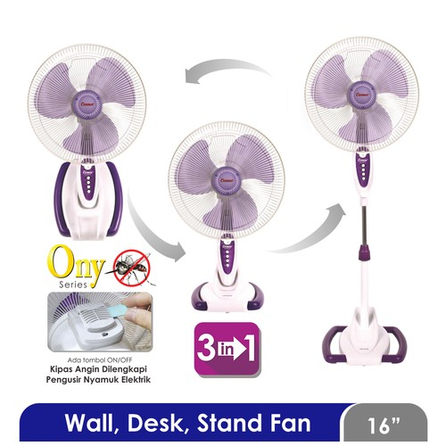 Cosmos WADESTA 16-S033 ONY - Kipas Angin 3in1 - 16 inch (Wall Desk Stand)
