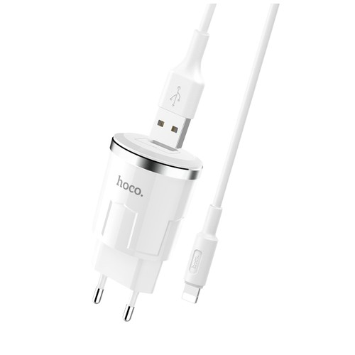 HOCO C37A Wall Charger Set Cable Lightning for Iphone_White
