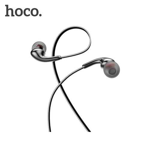 HOCO M30 In-Ear Sport Earphone With Mic Bass Sound Headset Original - Grey