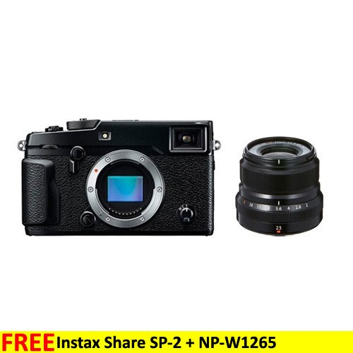 Fujifilm Mirrorless Digital Camera X-PRO2 - Black + XF 23mm Lens
