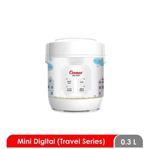 Cosmos CRJ-1031 - Digital Rice Cooker 0.3 L (Travel Series)