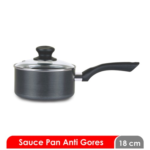 Cosmos CSP 18 HC F - Sauce Pan/Panci 18 cm - Harmond with Cover