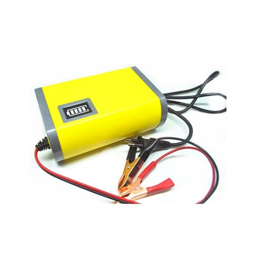 Accu Charger Portable 6A-12V Charge Aki Motor Mobil - Yellow