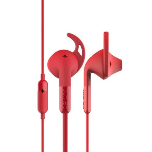 Defunc PLUS Sport Corded Earbud - Red