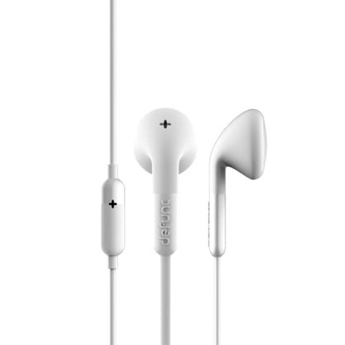 Defunc PLUS Talk Corded Earbuds - White