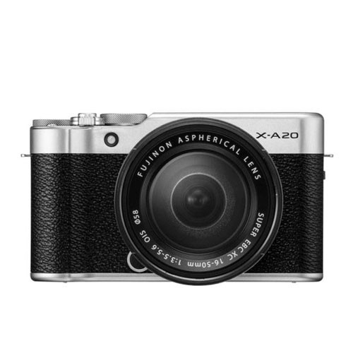 Fujifilm Digital Mirrorless Camera X-A20 with Lens Kit 15-45mm - Silver