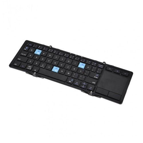 Universal Portable Mini Foldable Bluetooth Keyboard HB088 - Black