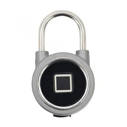 Oklok Premium Fingerprint Padlock Smart Bluetooth Electronic Lock - Silver