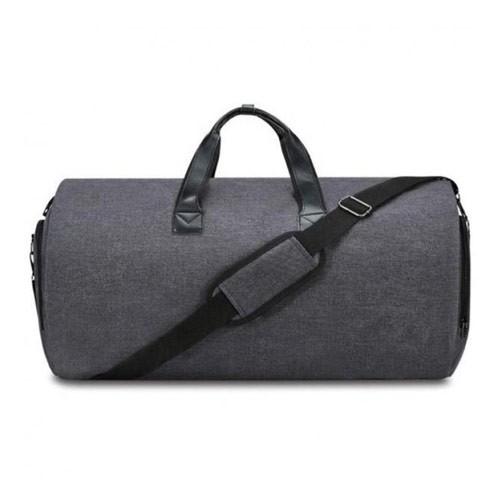 Modern 2-in-1 Multifunction Men Foldable Hanging Travel Duffel Bag -Dark Grey