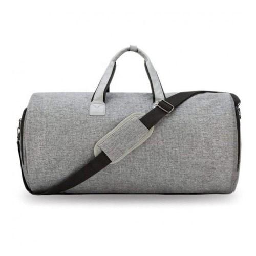 Modern 2-in-1 Multifunction Men Foldable Hanging Travel Duffel Bag - Light Grey