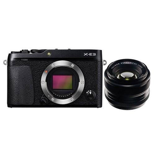 Fujifilm Mirrorless Digital Camera X-E3 with Lens Kit XF35mm - Black
