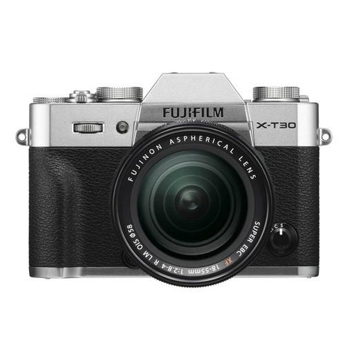 Fujifilm Mirrorless Digital Camera X-T30 with Lens Kit XF 18-55mm - Silver