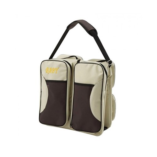 Multifunction 2 in 1 Travel Foldable Baby Bed and Diaper Bag - Beige